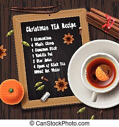 Christmas tea with spices, aromas mulled wine - Christmas...