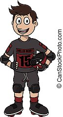 Roller derby vector cartoon illustration design