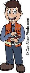 Surveyor vector cartoon