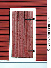 Red barn door - A Red barn door