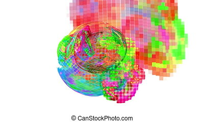 Abstract fractal illustration for creative design - Computer...