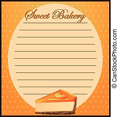 Paper design with orange cheesecake illustration