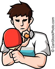 Playing Ping pong vector illustration design