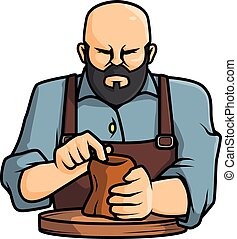 Pottery man vector illustration design