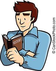 Man reading book vector