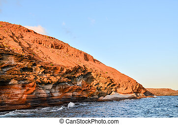 Volcanic Rock Basaltic Formation in Canary Islands