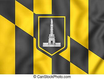 Flag of Baltimore Maryland, USA - 3D Flag of Baltimore...