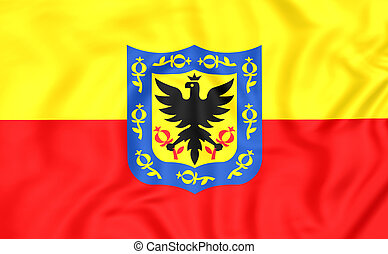 Flag of Bogota, Colombia - 3D Flag of Bogota, Colombia Close...