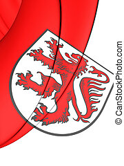 Flag of Braunschweig, Germany Lower Saxony - 3D Flag of...