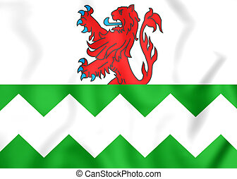 Flag of Westland South Holland, Netherlands - 3D Flag of...