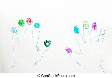Primitive manicure - Primitive funny manicure picture over...