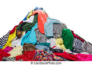 Big heap of colorful clothes