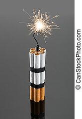 cigarrillos, explosivos