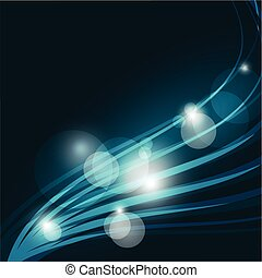 Abstract Blue Background with Wavy Lines.