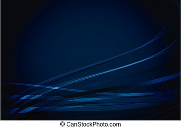 Abstract navy blue background with wavy lines - Abstract...
