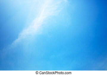 Clear blue sky at summer day