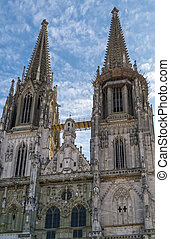 St Peters Cathedral, Regensburg, Germany - St Peters...