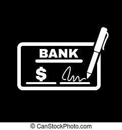 Pagar, plano, Chequera, pago, símbolo, paga,  cheque, icono, cheque