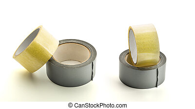 Four rolls of adhesive tape