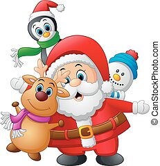 cartoon christmas doll collections - vector illustration of...