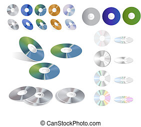 Cd Collection - Clip-arts of Cds on white background