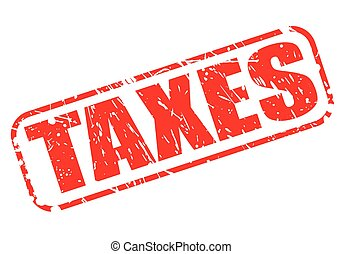 TAXES red stamp text