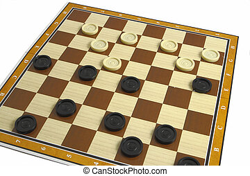 checkers - A game of checkers or draughts