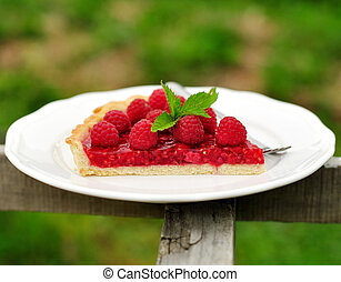 Fresh Raspberry Jelly Tart