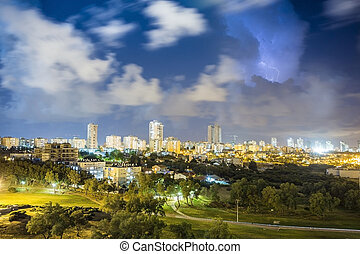 Ashdod, Israel - Residential district of Ashdod during...