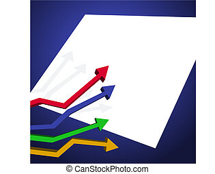 Arrow Chart - Background with arrow chart and white space...