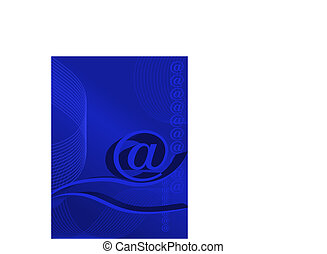E-mail - Abstract background about e-mail