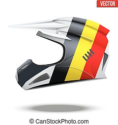 Belgium Flag on Motorcycle Helmets - Original Motorcycle...