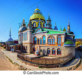 Universal Temple of All Religions in Kazan - Full view of...
