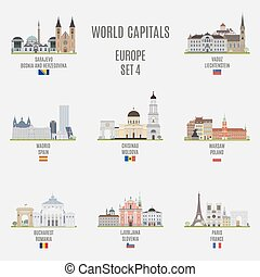 World capitals Famous places of European cities