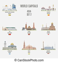 World capitals Famous Places Asian Cities