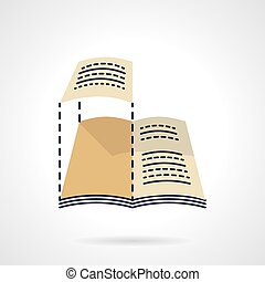 Web layout flat color vector icon - Imposition of a magazine...