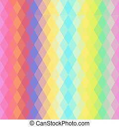 Abstract hipsters seamless pattern with bright colored rhombus. Geometric background. Vector