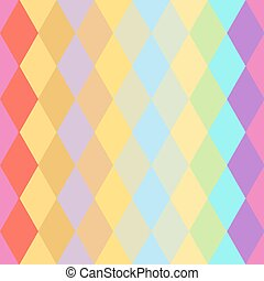 Abstract hipsters seamless pattern with colored rhombus. Geometric background. Vector
