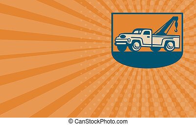 Business card Vintage Tow Wrecker Pick-up Truck