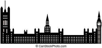 Image of cartoon Houses of Parliament and Big Ben...