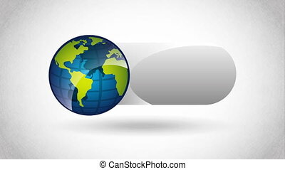 Planet earth design, Video Animation HD1080