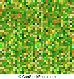 Abstract pixel background green yellow khaki camouflage...