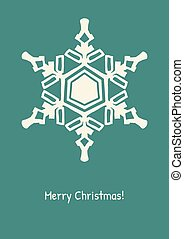 Abstract snowflake on color background.