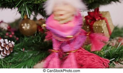 Decoration of Christmas tree witch doll toy