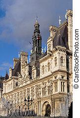 The Hotel de Ville in Paris - The Hotel de Ville (city hall)...