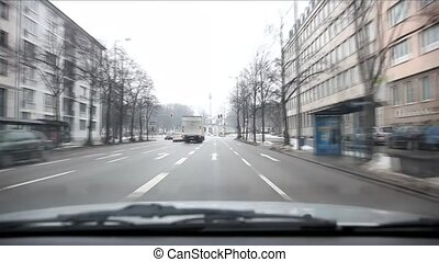 Time Lapse Car Ride In Munich, Germany
