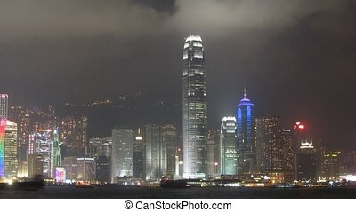 Time lapse of Victoria Harbor in Hong Kong - Victoria Harbor...