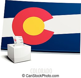 Ballotbox Map Colorado - detailed illustration of a...
