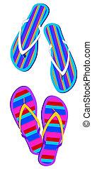 Flip-flops - Striped Flip-flops