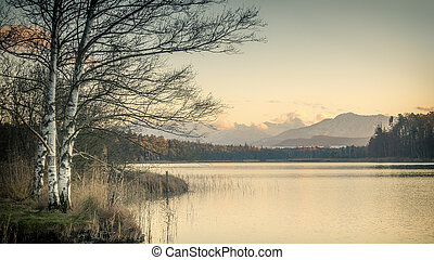 osterseen sunset - sunset at the Osterseen in Bavaria...